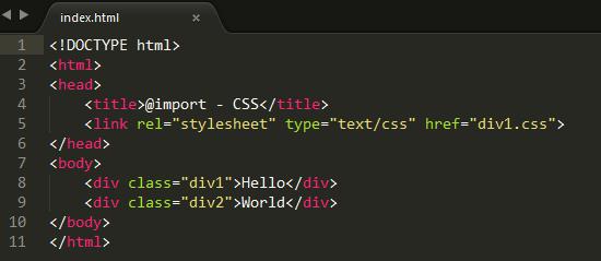 @import - CSS - 4
