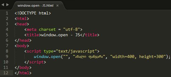 window.open - JS