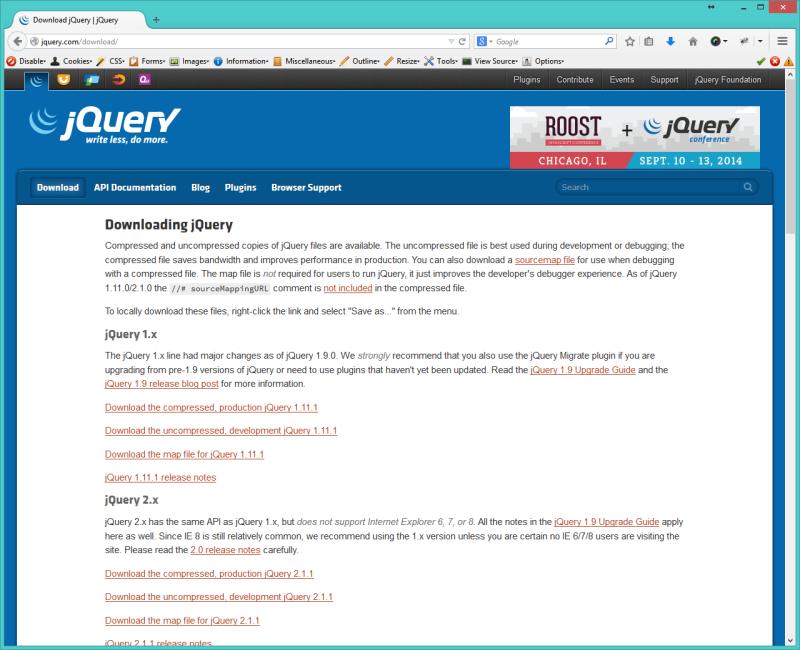 jQuery ბიბლიოთეკის გვერდზე მიერთება - jQuery
